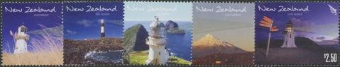 NZ SG3107-11 Lighthouses of New Zealand set of 5